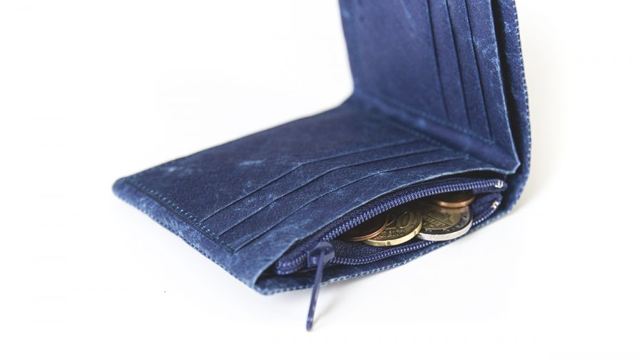 portemonnaie mit münzen