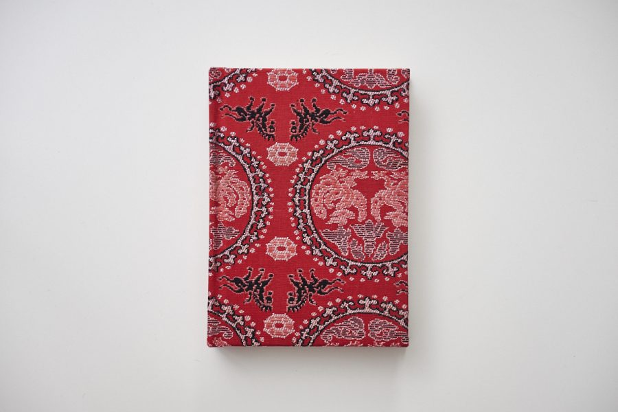 rot kimono notizbuch