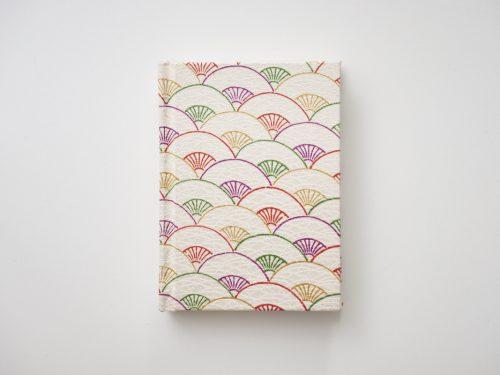 kimono notizbuch mit fächer motive