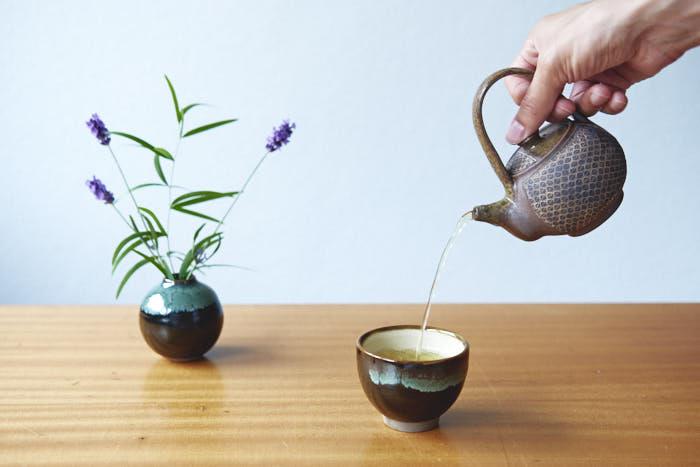 grüntee tasse aus japan