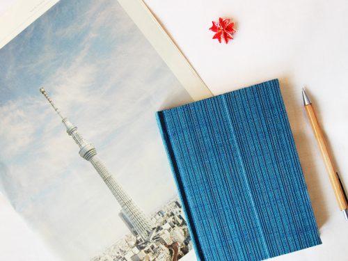 blaue notizbuch aus tokyo