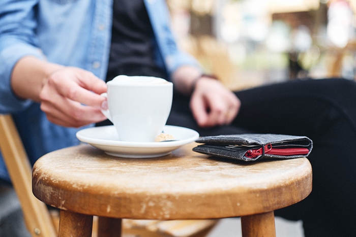 siwa portemonnaie mit kaffee