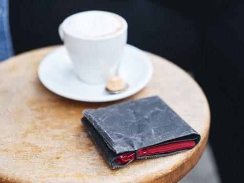 portemaonnaie mit kaffee tasse