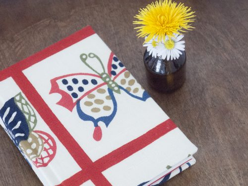 kimono notizbuch mit blumen