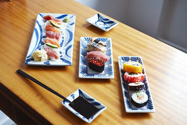 sushi teller aus porzellan