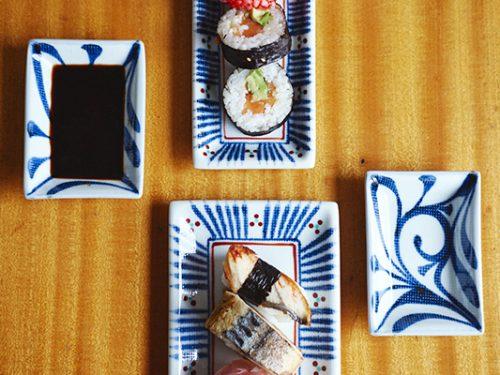 sushi set aus porzellan