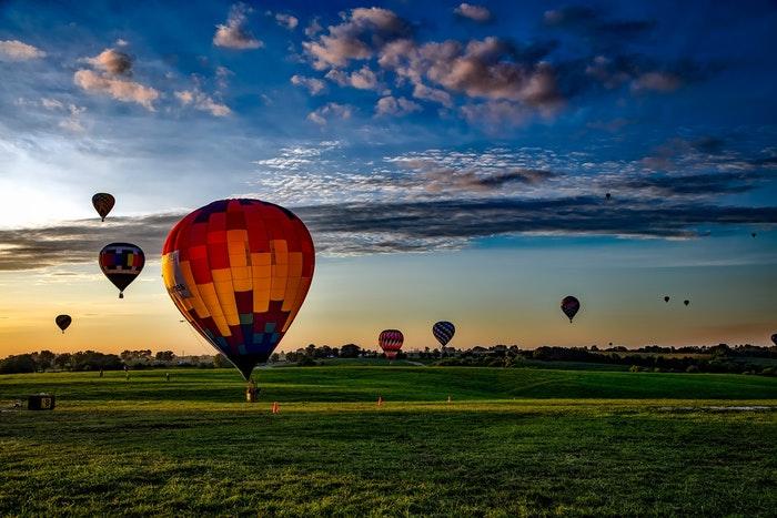 heißluftballons in saga