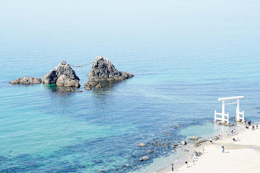 Futamigaura strand in itoshima