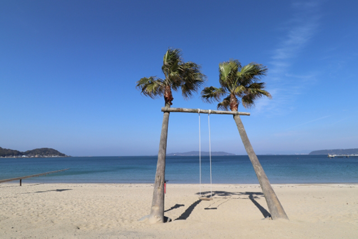 palmen schaukel in itoshima
