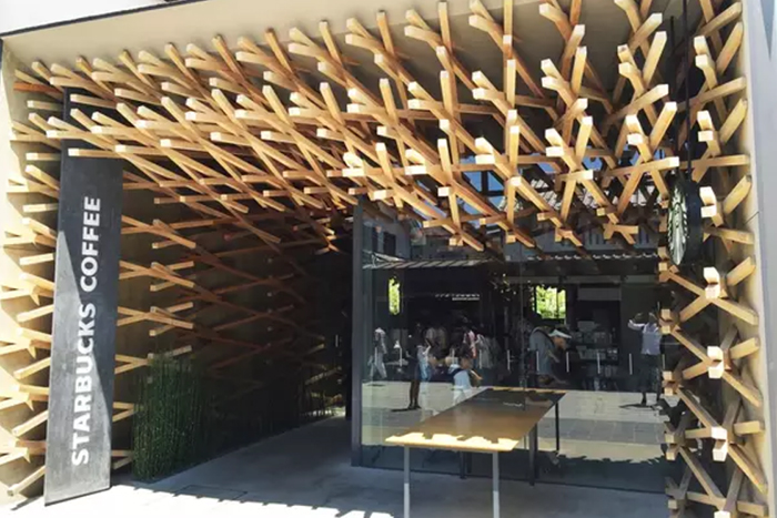 dazaifu starbucks holz architektur