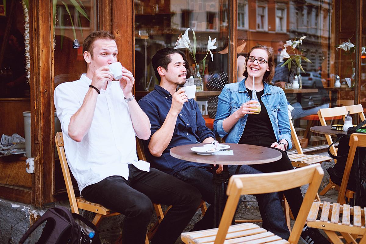 drei kaffee liebhaber