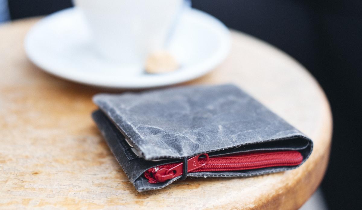 siwa brieftasche mit kaffeetasse