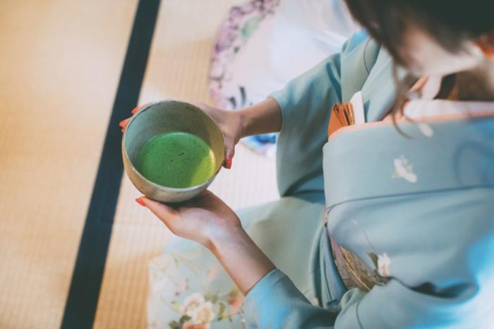 japanische tee trinken