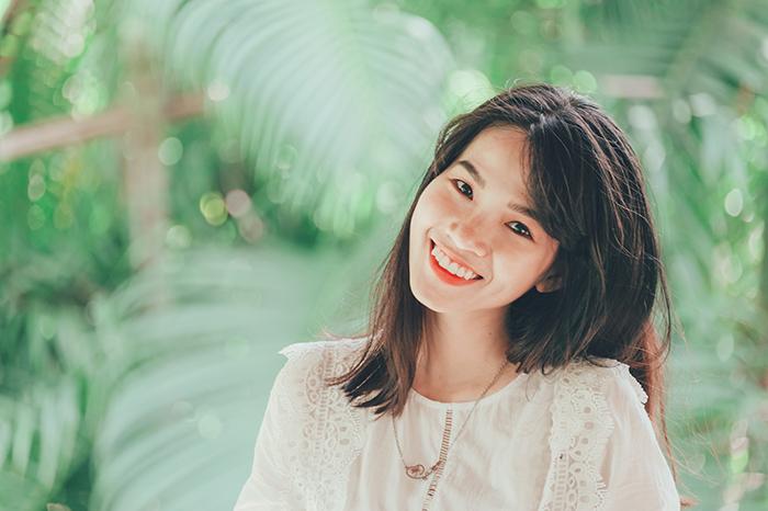 lächelnde japanerin