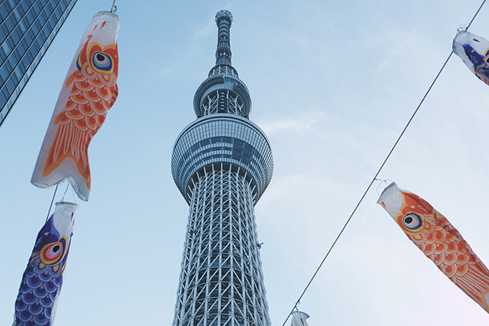 tokyo sky tree mit koinobori