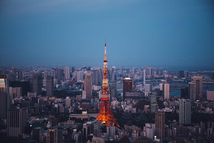tokyo tower abend