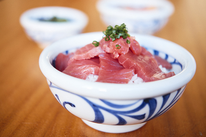 tekka don - raw tuna on rice