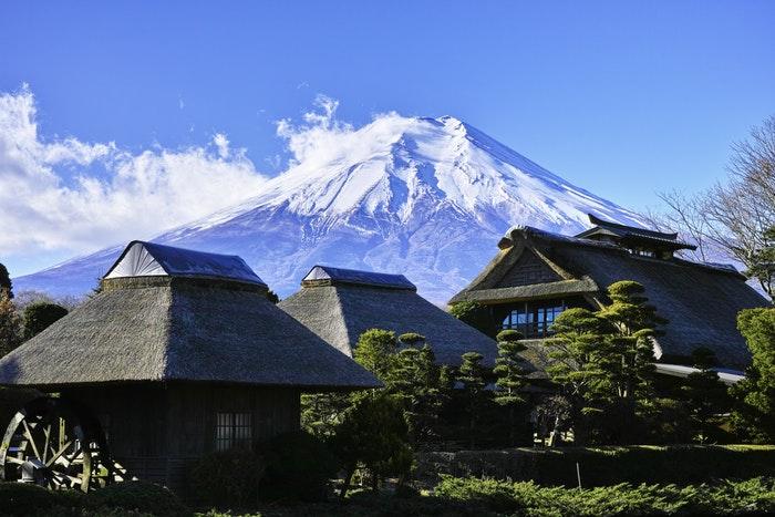 japanische traditionelle Häuser