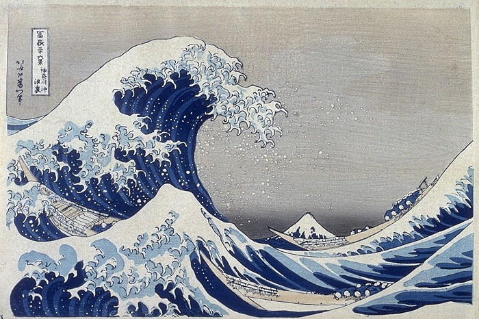 hokusai große welle bei Kanagawa