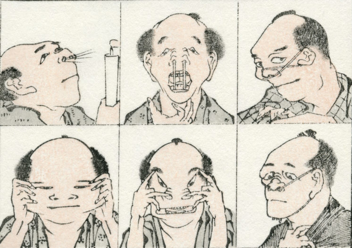 hokusai manga lustig