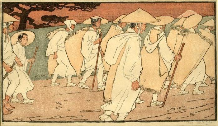 fuji pilgrim - emil orlik ukiyo-e und japonismus