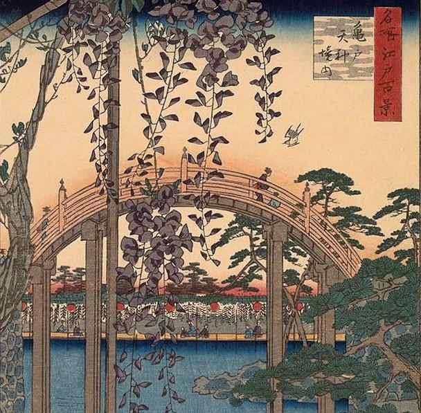ukiyo-e brücke - utagawa hiroshige