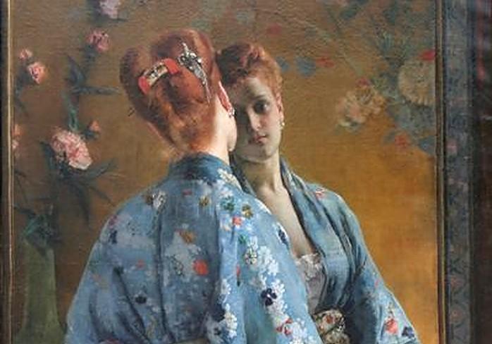 The Japanese Parisian - Alfred Stevens - 1872 - Wiki Art