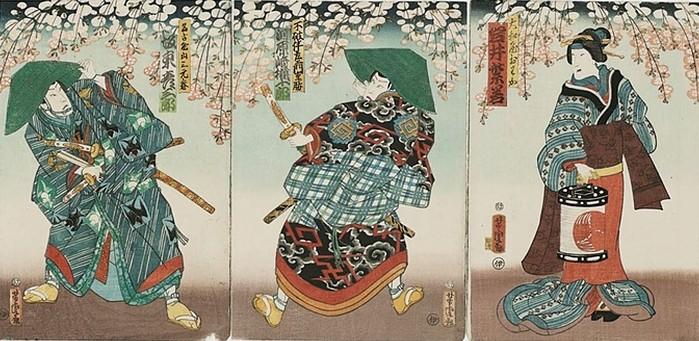 samurai ukiyo-e bilder