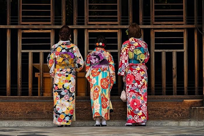kimono im tempel
