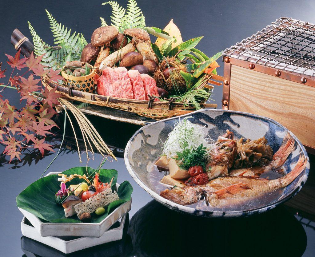 wagyu bbq gegrillter Fisch aus der traditionellen japanischen Küche